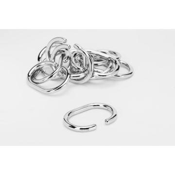 C Shape Curtain Ring - Chrome